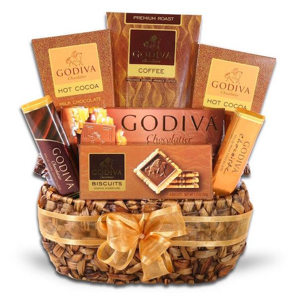 coffee gift for dad godiva gift basket