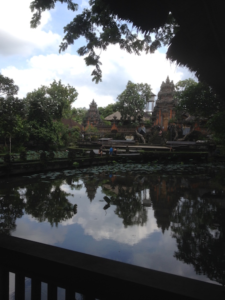 View of the local temple from Starbucks Ubud