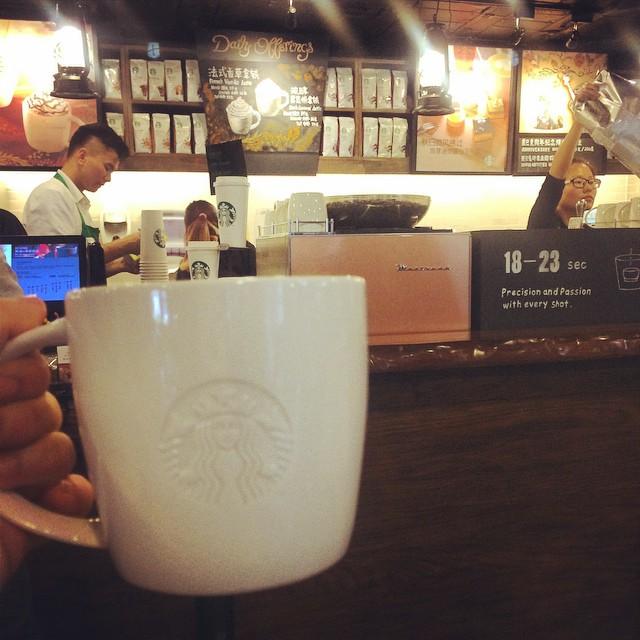 Starbucks served in a beautiful mug
