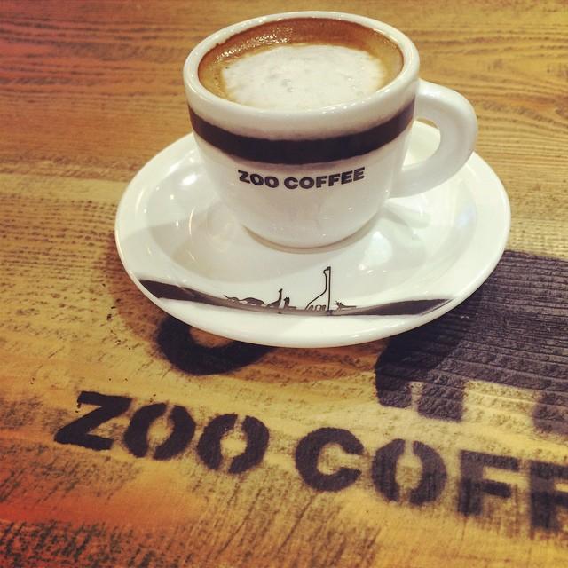 Macchiato at Zoo Coffee, a Korean coffee outlet