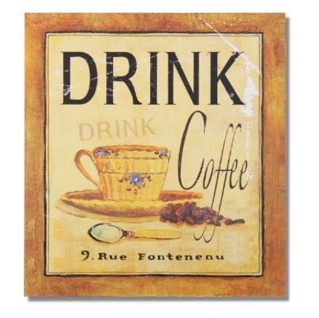 wood vintage coffee poster