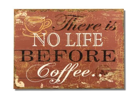 vintage coffee poster