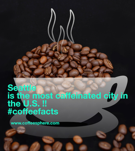Maybe!! Let's get the conversation rolling...we get this coffee fact from Ryoko Iwata's Coffee Gives Me Superpowers. Some people think it is New York and Miami and not Seattle. How about you?