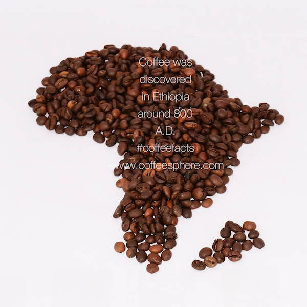 Coffee was discovered in Ethiopia around 800 A.D. Do you know where is Ethiopia??