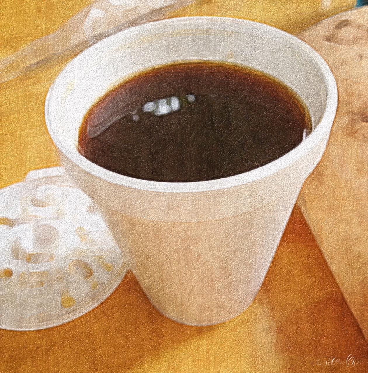 Black coffee in Sao Paulo