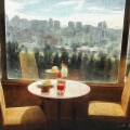 Coffee with a view at the JW Marriott Quito Ecuador