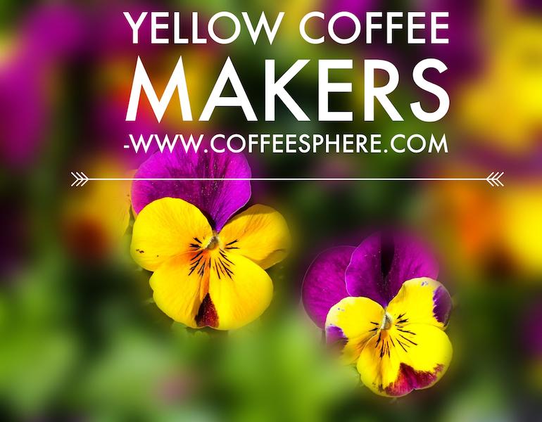 yellow coffee maker