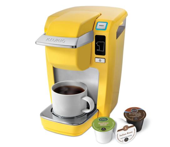 Yellow Keurig Coffee Maker