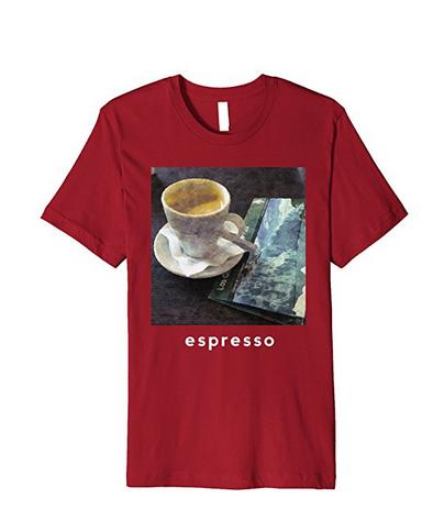 espresso art coffee tshirt