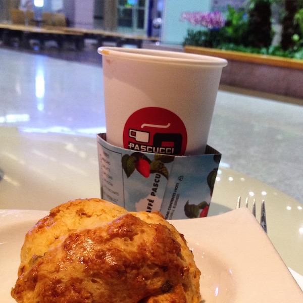 Americano and a muffin