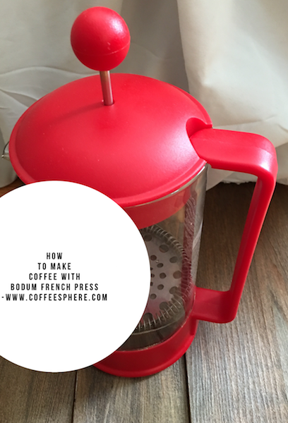 How to make coffee with Bodum french press