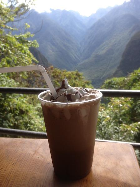 Frappacino in Machu Picchu