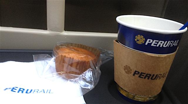 coffee in Peru Rail