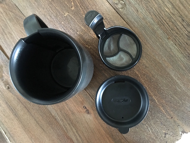 Mug, plunger and lid
