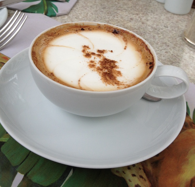 cappuccino at Copacabana Palace