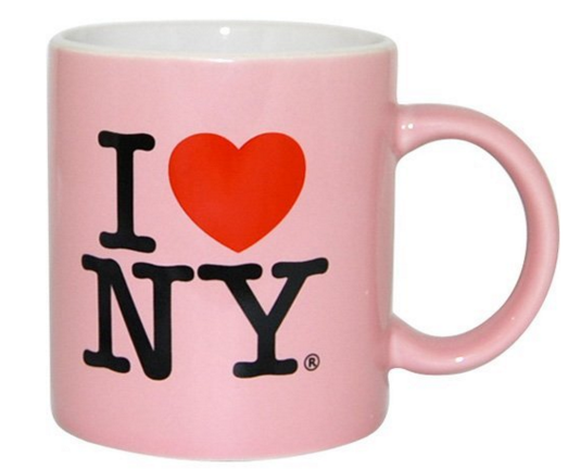 Pink I love New York coffee mug