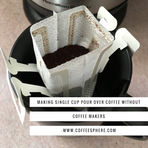 Making single cup pour over coffee