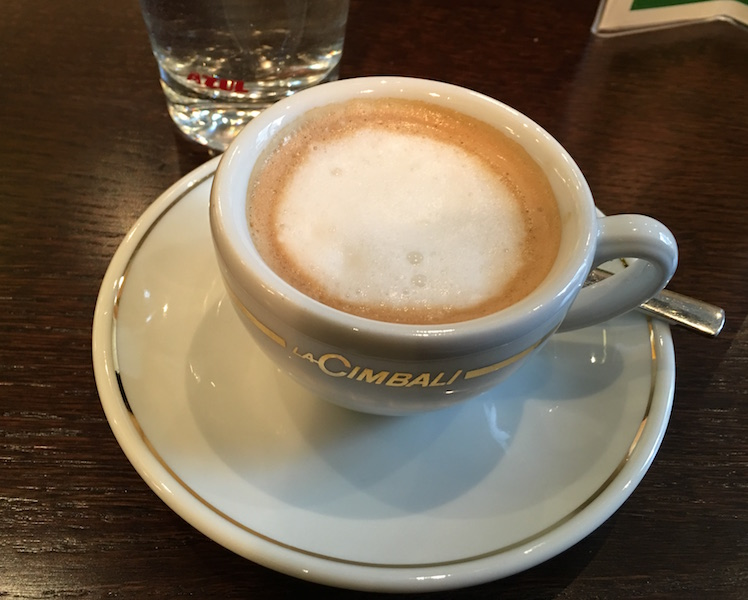 Espresso macchiato at Ranitsky Coffeehouse, Tubingen Germany