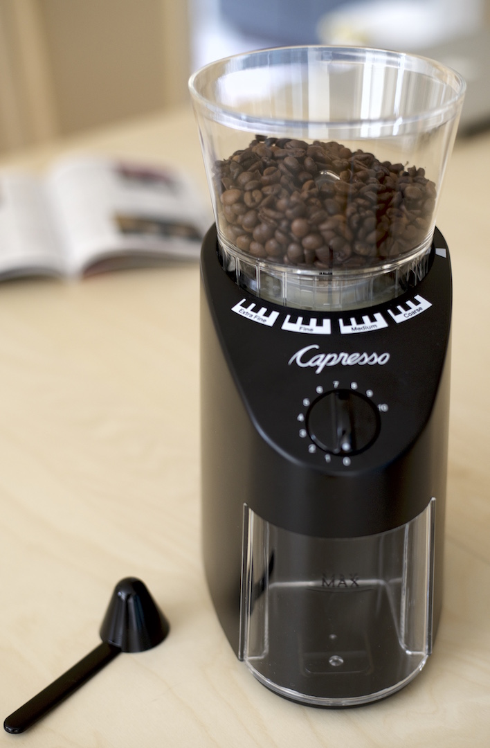 burr capresso coffee concierge grinder the infinity review