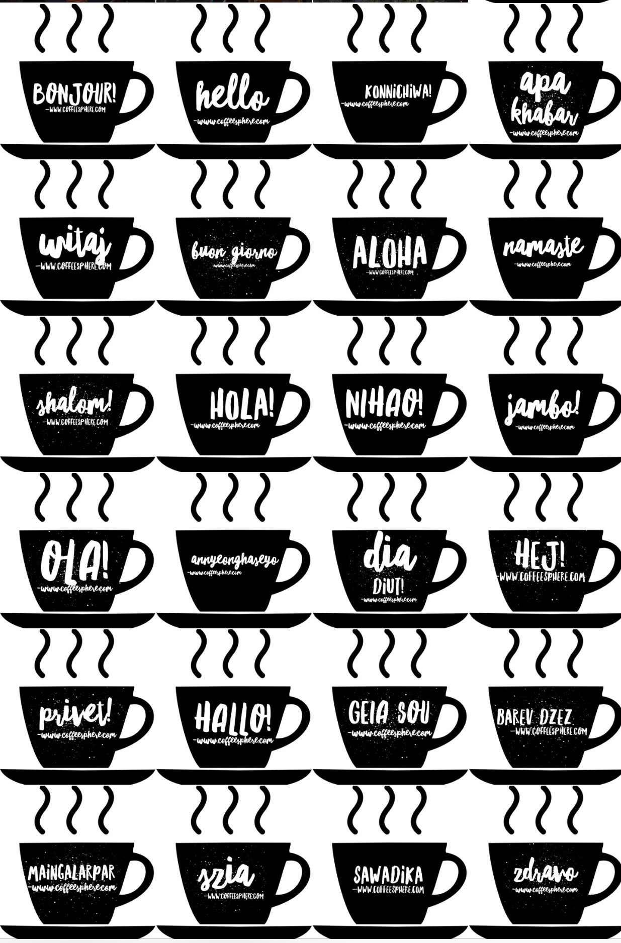 Say Hello In 25 Languages Coffeesphere