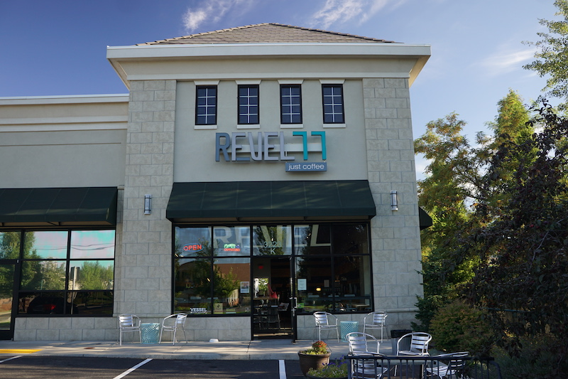 Revel 77 Coffee shop in Spokane