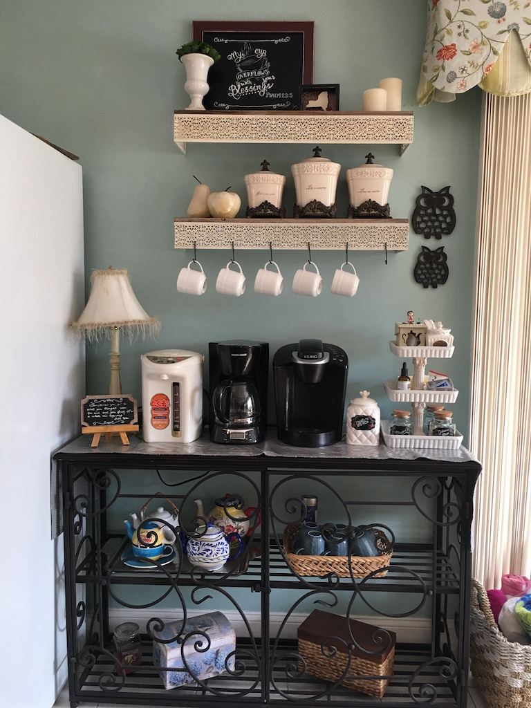 Diy Coffee Bar In Kitchen