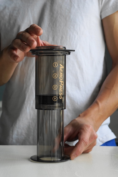 Aeropress upside down