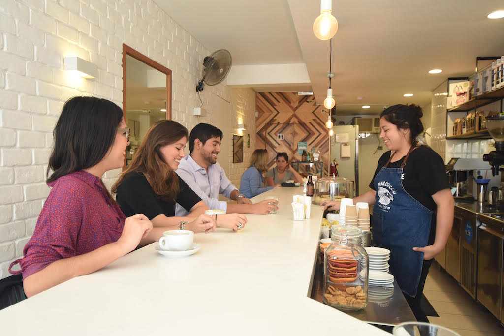 Inside True Artisan Cafe in Miraflores Lima Peru