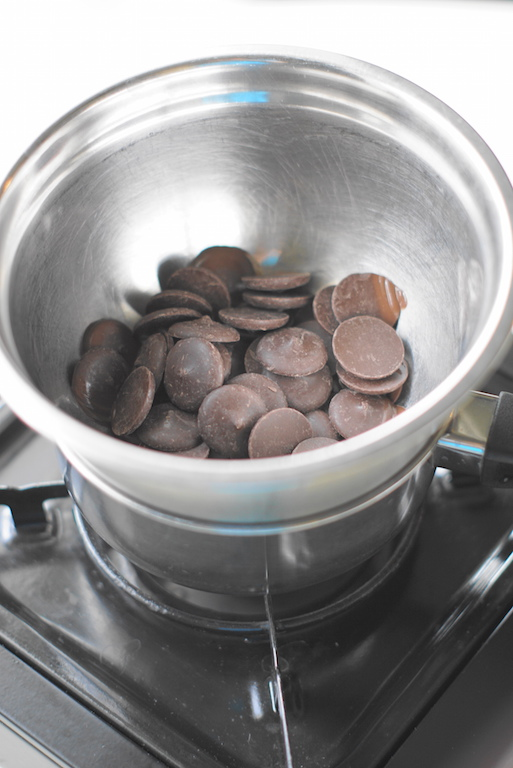 Chocolate in pot to be melted