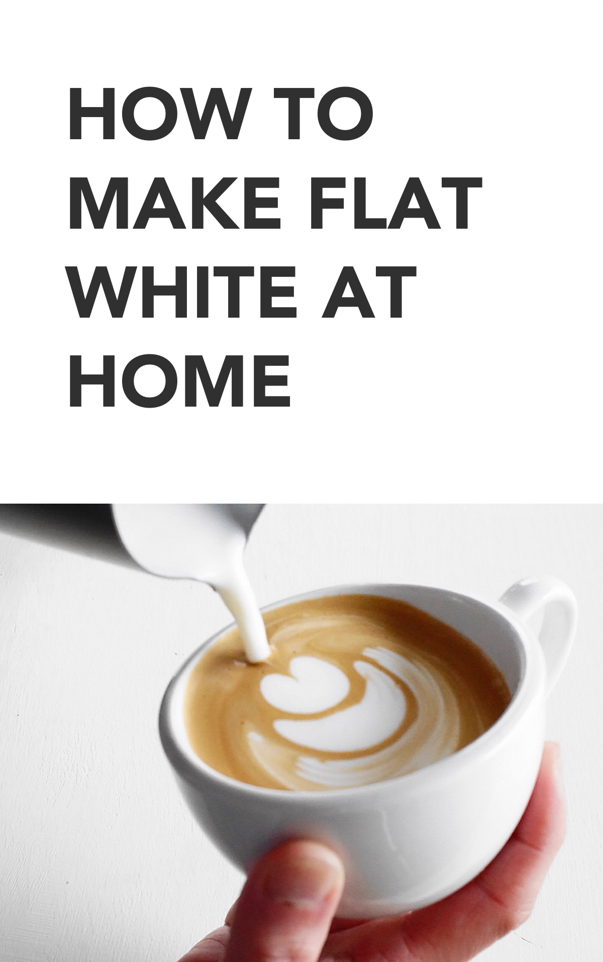 how to make flat white