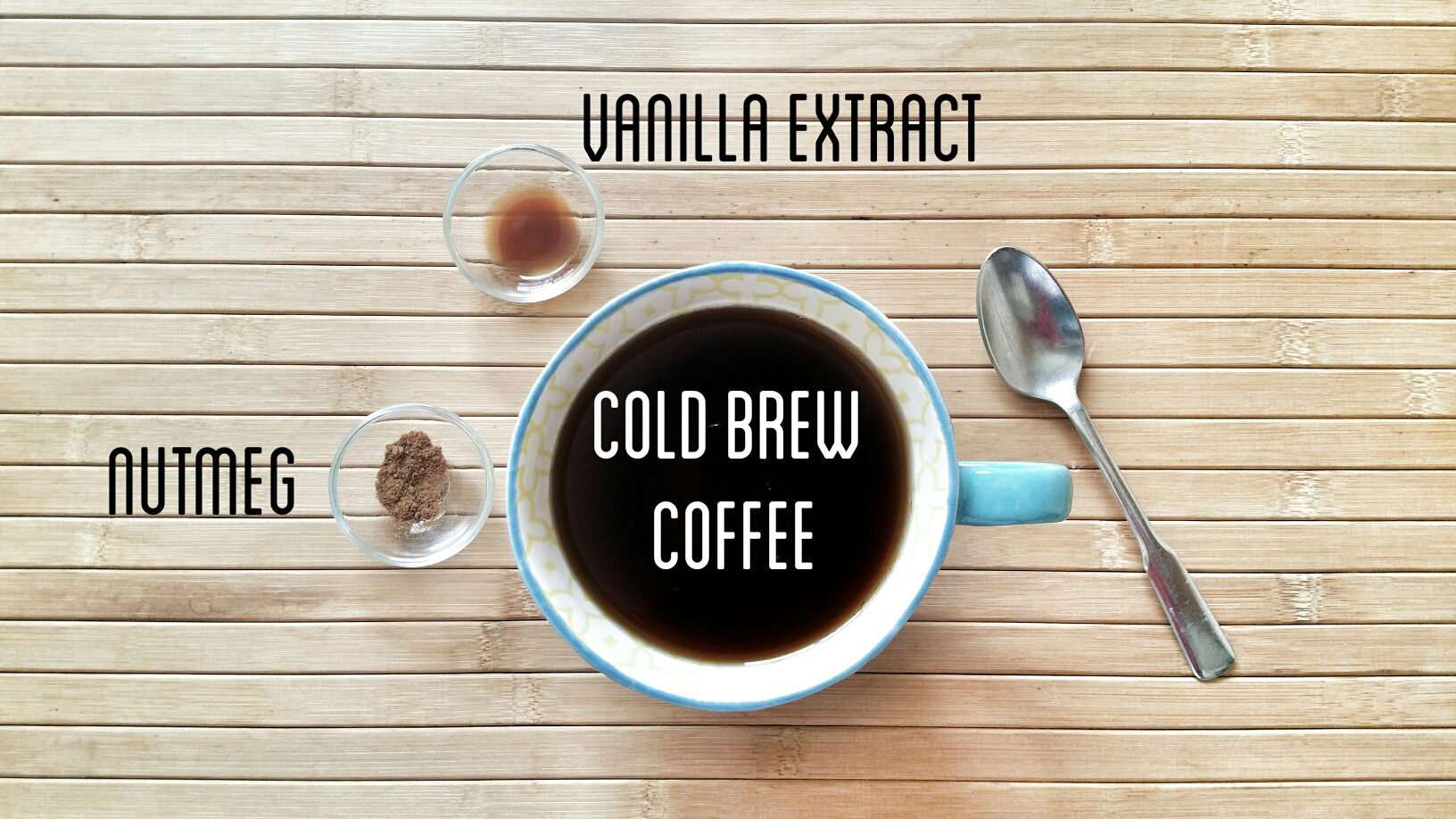 cold brew with nutmeg and vanilla extract