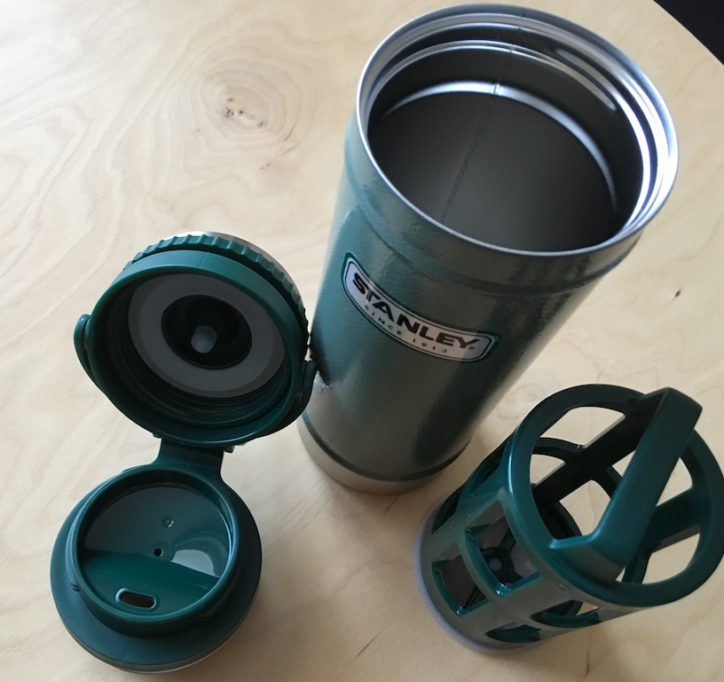 french press travel mug by Stanely