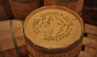 Jamaican blue mountain coffee barrels