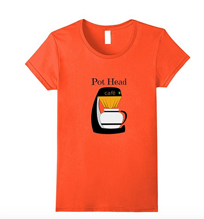 orange coffee t-shirt