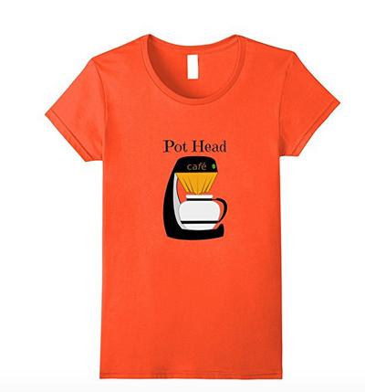 orange coffee t-shirt
