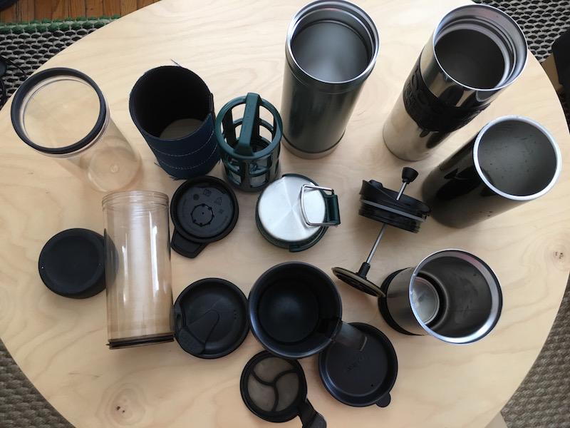 coffee travel mugs cum french press