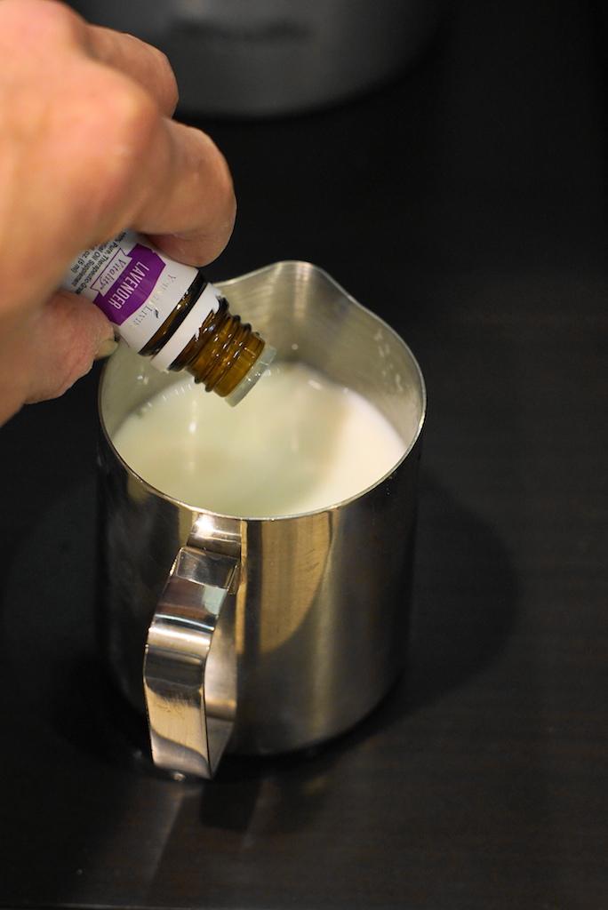 add lavender oil to milk